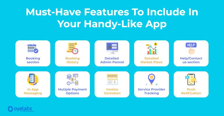 features list handy app