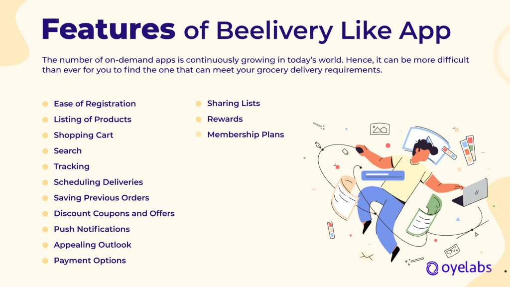 Features of Beelivery Like App